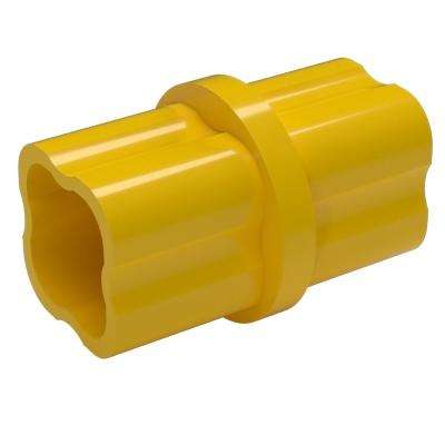 1-1/4 in. Furniture Grade PVC Sch. 40 Internal Coupling in Yellow (10-Pack)