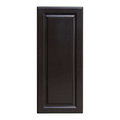 La. Newport Ready to Assemble 12x36x12 in. 1-Door Wall Cabinet with 2-Shelves in Dark Espresso