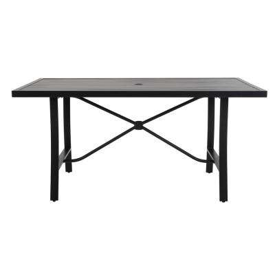 SmartConnect Steel Charcoal Gray Outdoor Dining Table