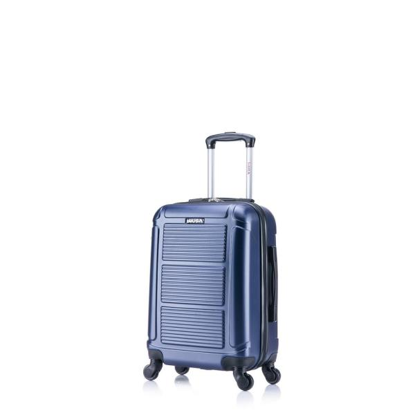 InUSA Pilot lightweight hardside spinner 20 in. carry-on Navy Blue IUPIL00S-BLU