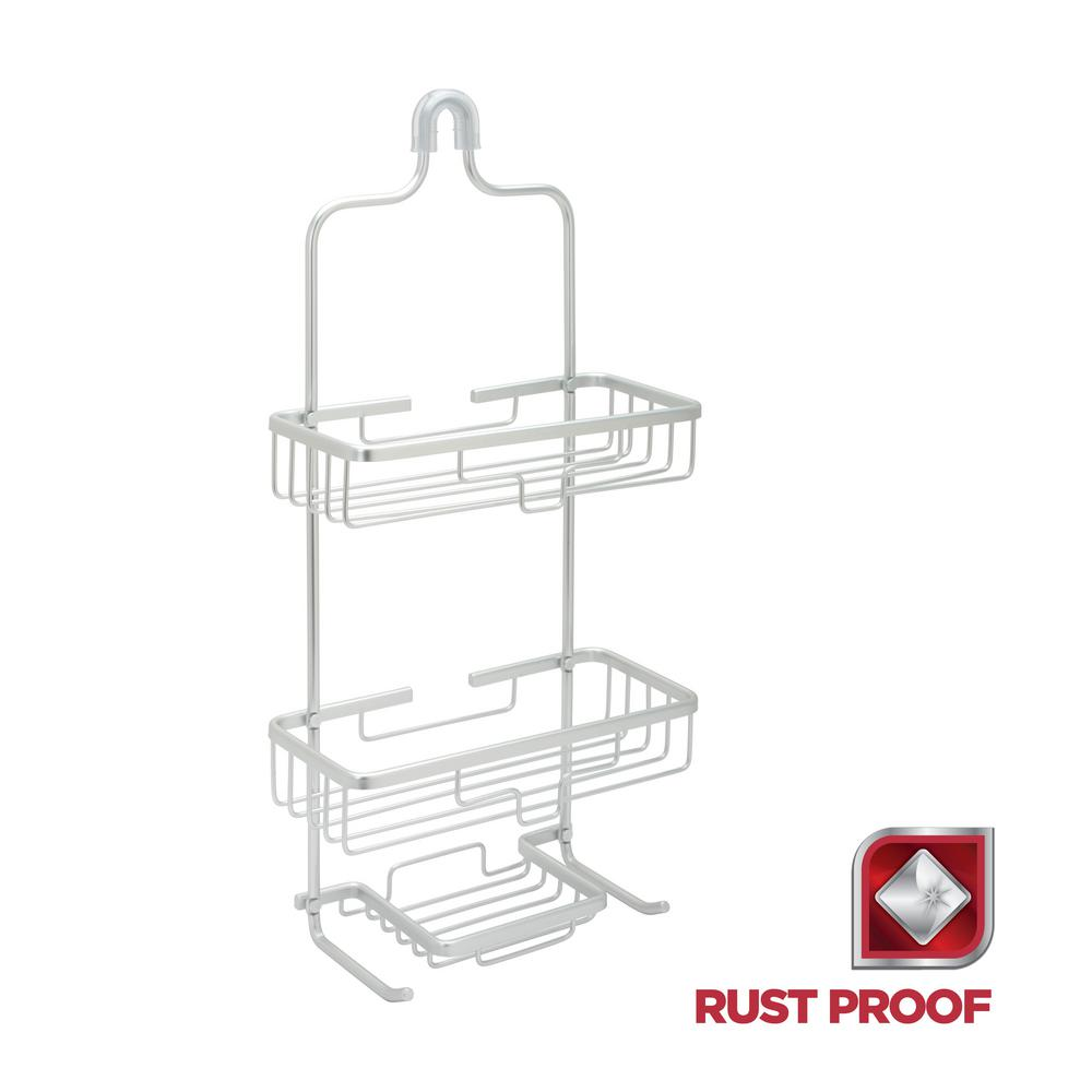 Glacier Bay Rustproof Over-the-Shower Caddy in Satin Chrome-7402ALHD ...