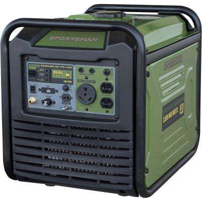 3,500-Watt/3,000-Watt Dual Fuel LPG/Gasoline Powered Recoil Start Portable Digital Inverter Generator