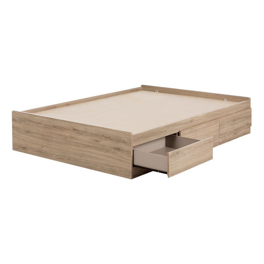 South Shore Fakto Rustic Oak Full Bed