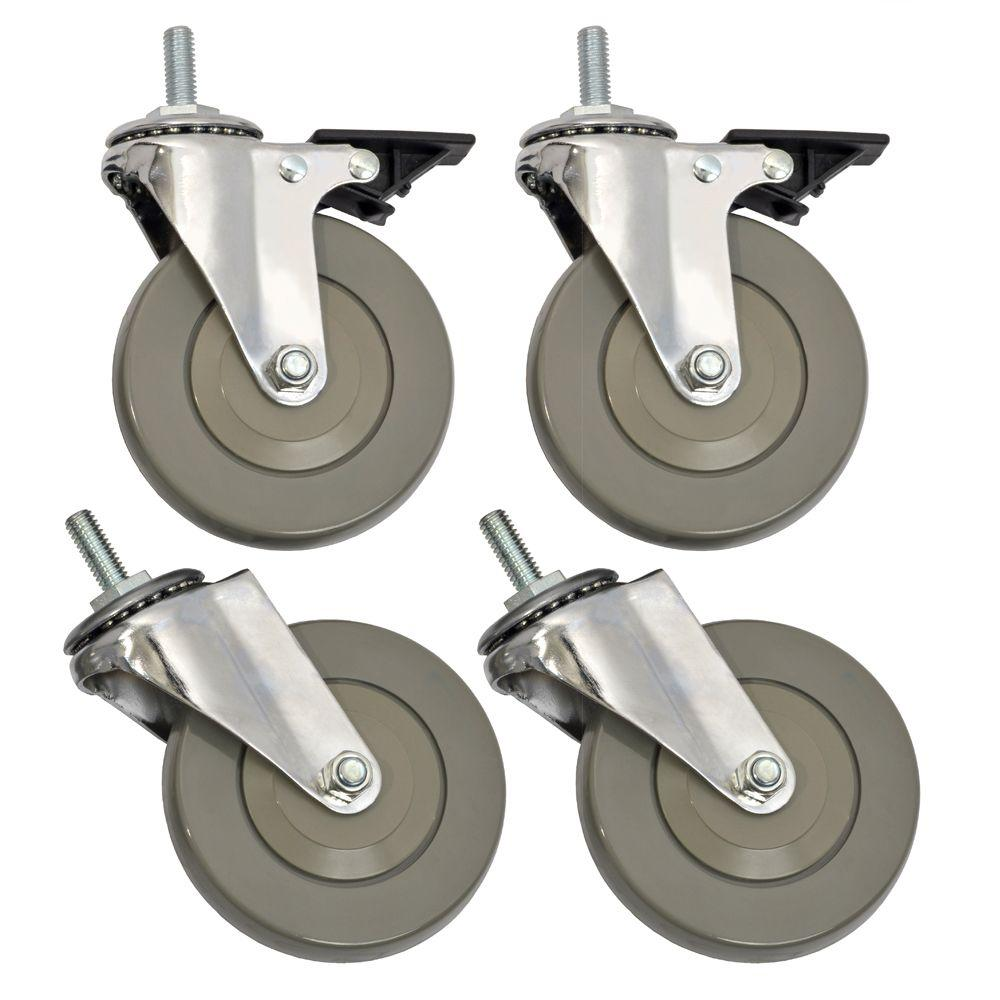 Sandusky 4 in. Industrial Casters (4-Pack)