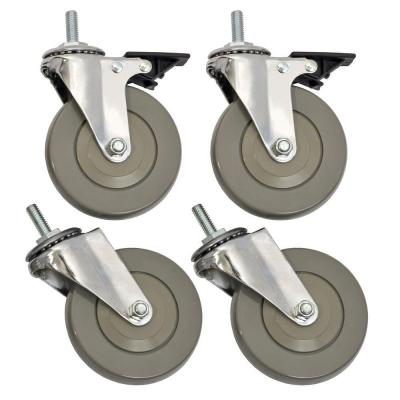 4 in. Industrial Casters (4-Pack)