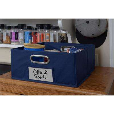 Cubo 12 in. x 6 in. Blue Folding Fabric Bin
