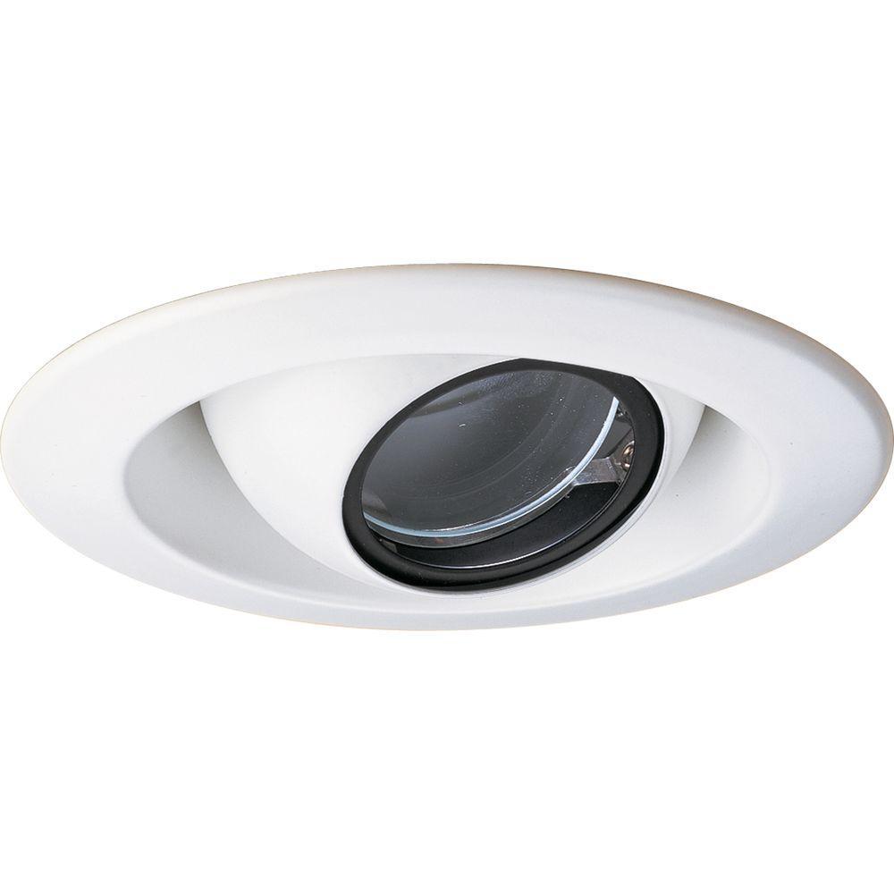 4 in. 12-Volt White Recessed Eyeball Trim