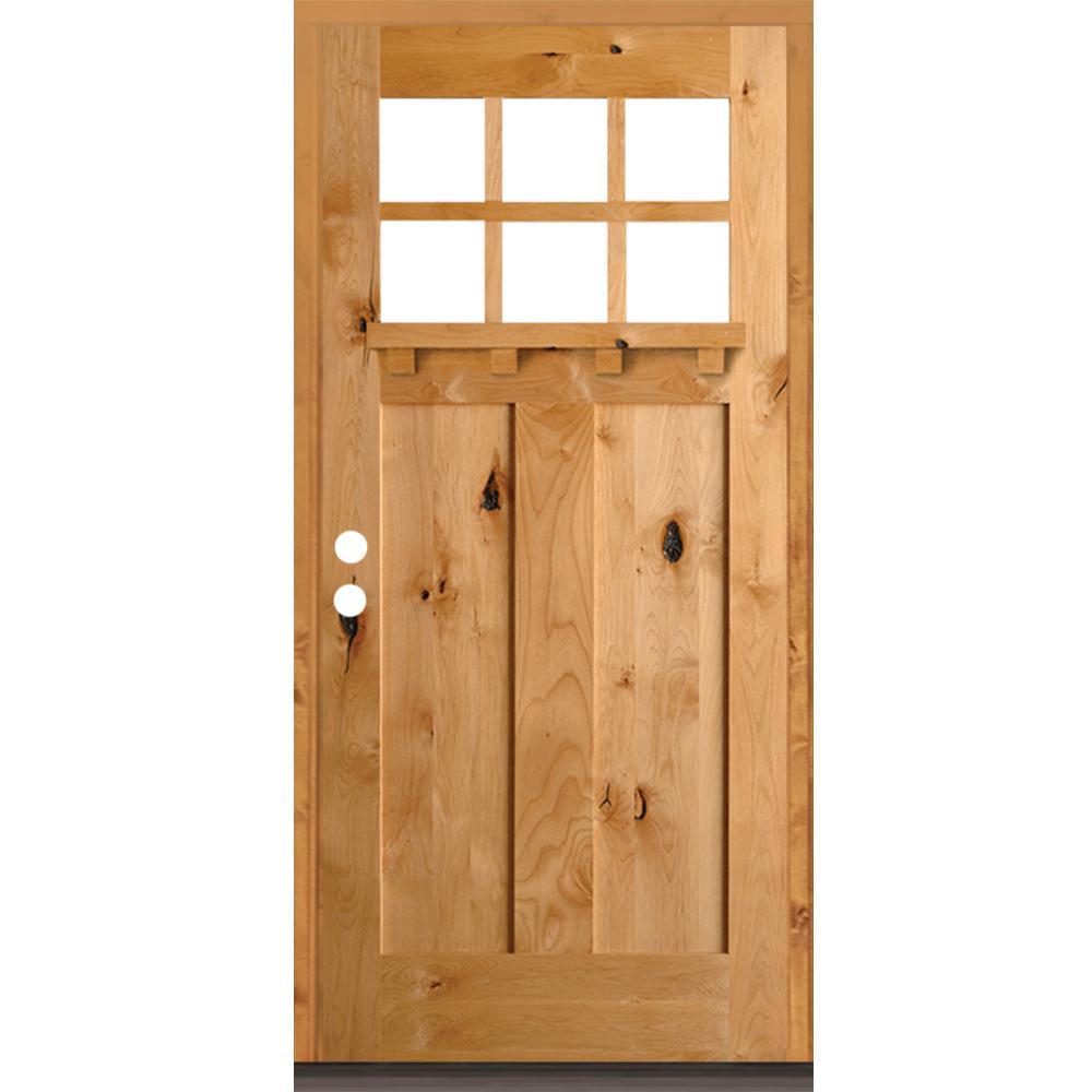 Craftsman Wood Doors Front Doors The Home Depot