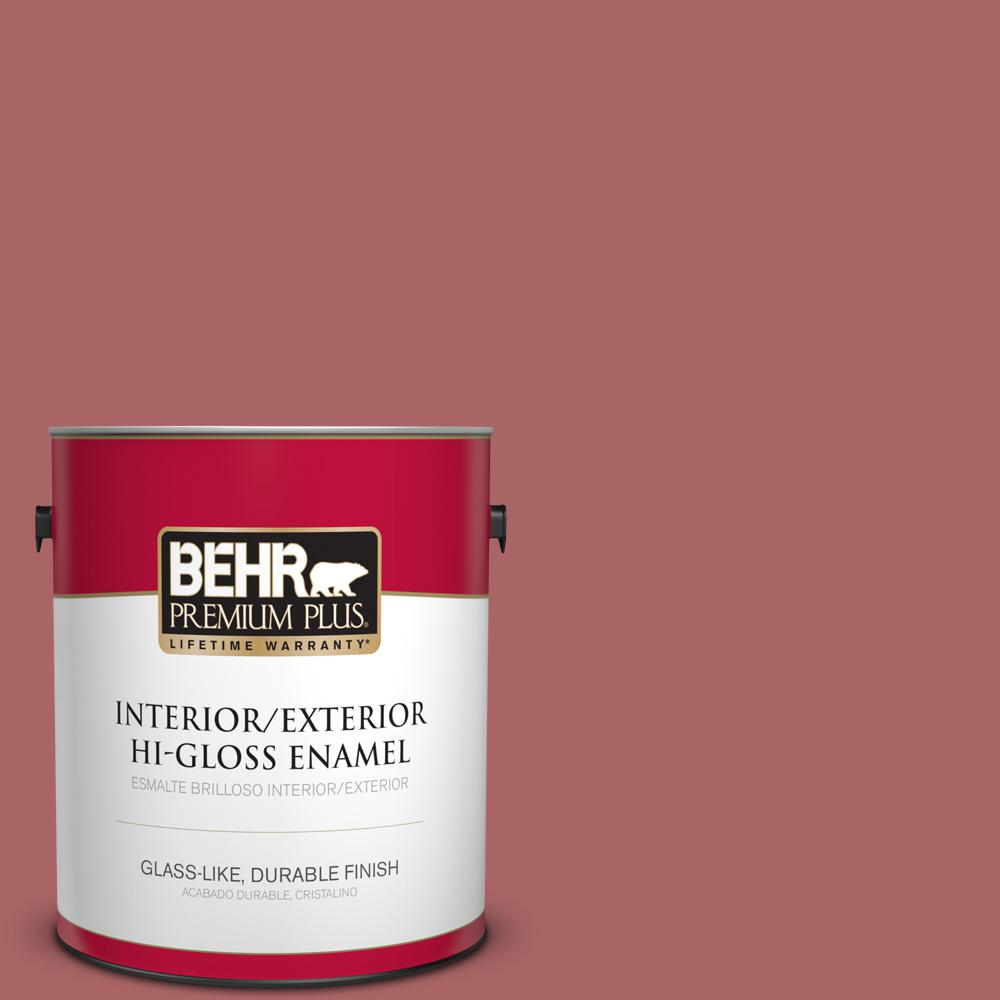 1 gal. #PPU1-06 Rose Marquee Hi-Gloss Enamel Interior/Exterior Paint