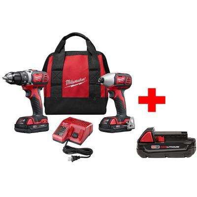 M18 18-Volt Lithium-Ion Cordless Drill Driver/Impact Driver Combo Kit (2-Tool) with Free Battery