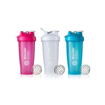 28 oz. Full Color Pink/White/Aqua - 3 Unit