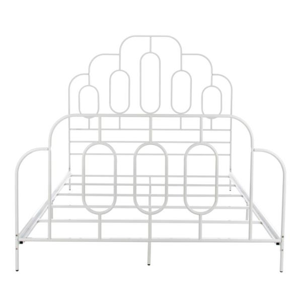 Paloma Metal Retro White Full Bed BED6201B-F