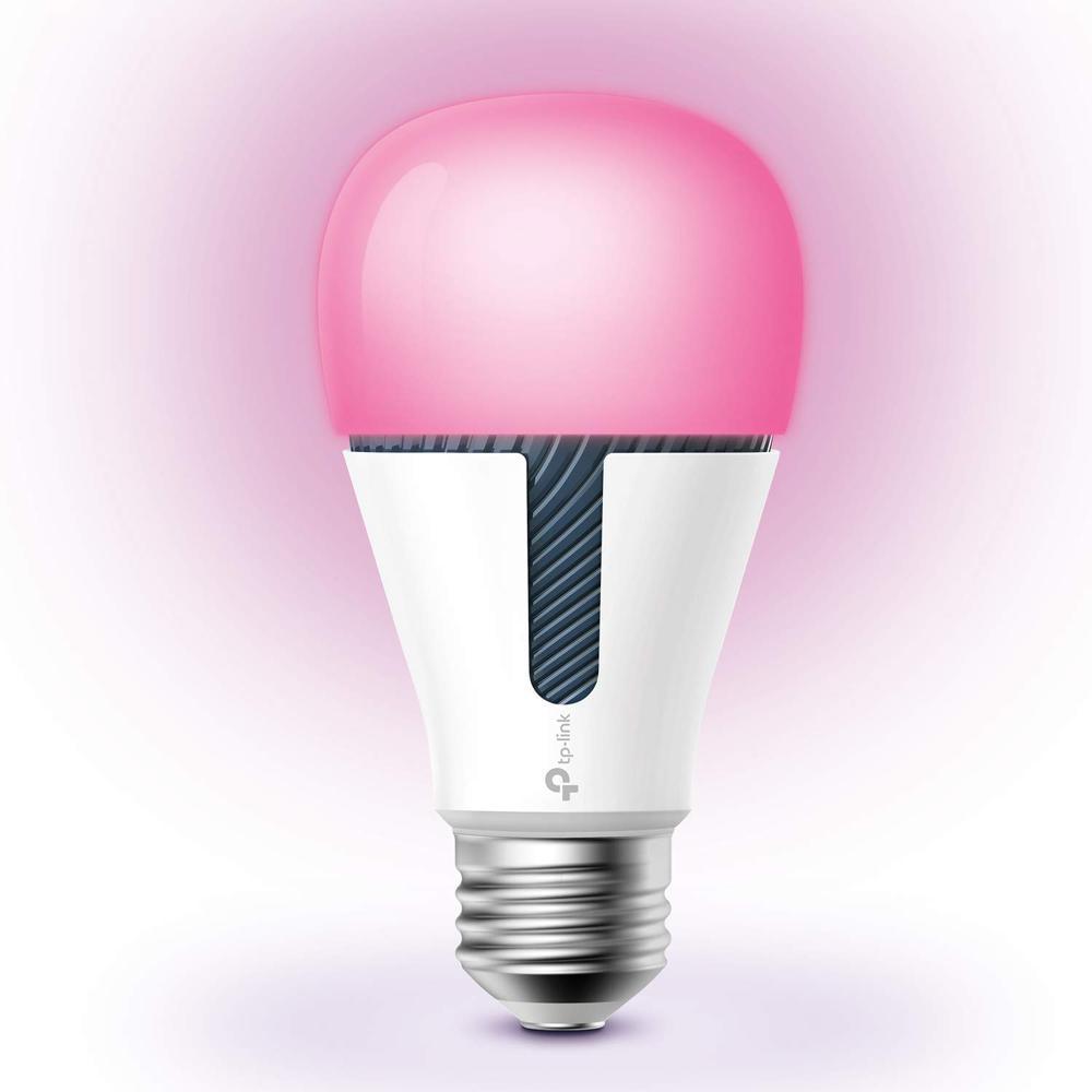 60-Watt Equivalent E26 Dimmable Kasa Smart Wi-Fi LED Light Bulb by Multicolor Light White (1-Bulb)