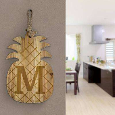 Wood Pineapple Hanging Initial Wall Letter M