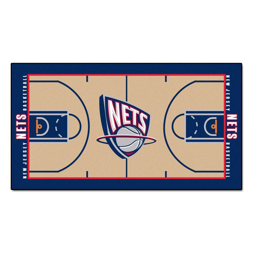 New Jersey Nets 2 ft. x 4 ft. NBA Court Runner Rug