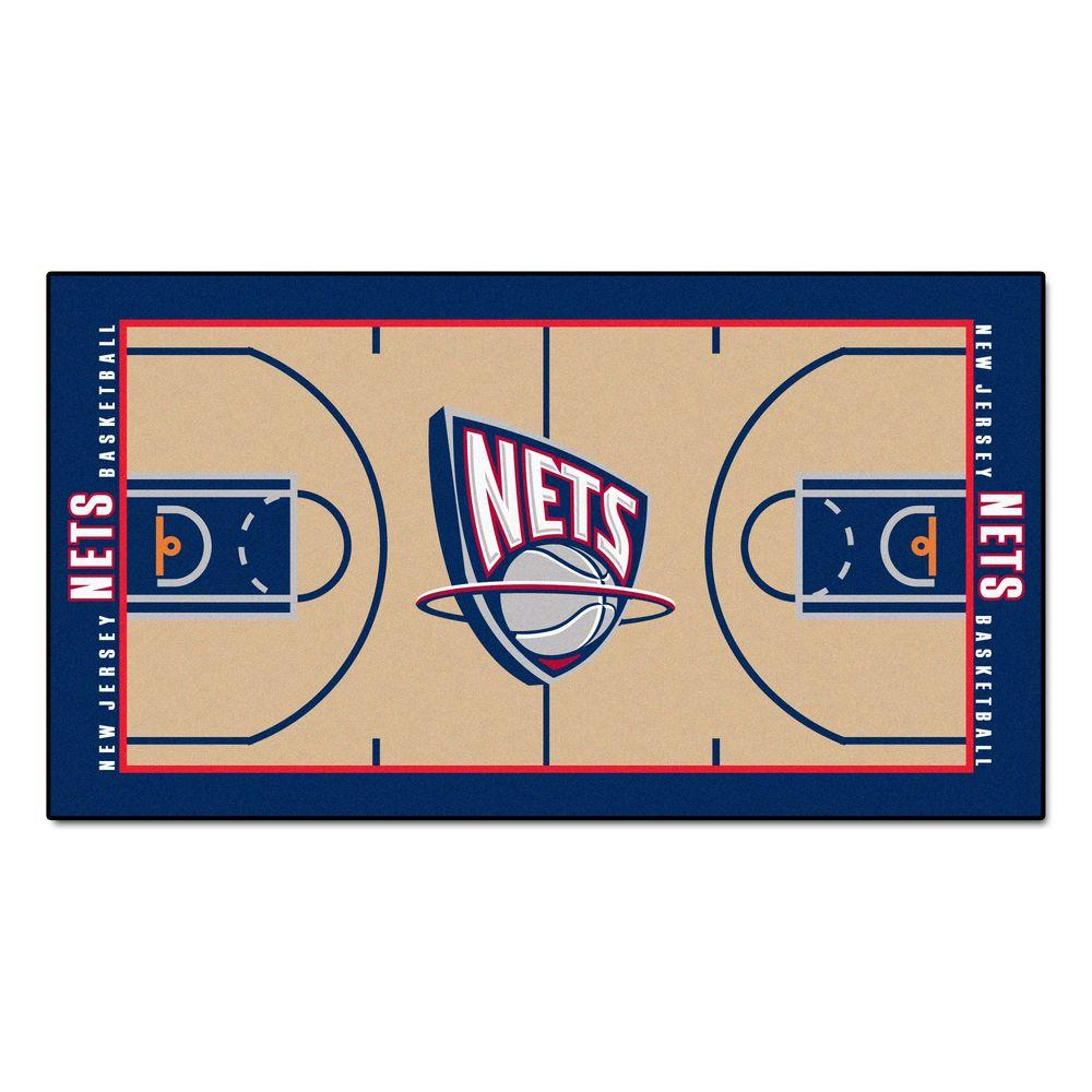 FANMATS New Jersey Nets 2 ft. x 3 ft. 8 in. NBA Court Rug Runner