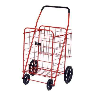 Jumbo Plus Shopping Cart in Red