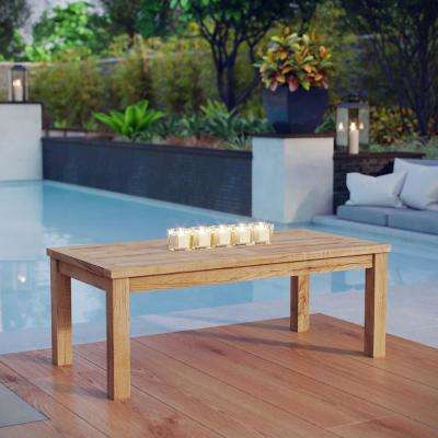 Marina Patio Teak Rectangle Outdoor Coffee Table in Natural