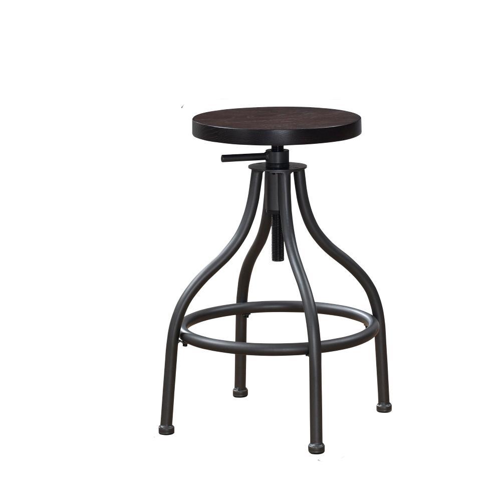 Awe Inspiring Campton Adjustable Height Gunmetal Backless Swivel Bar Stool Pabps2019 Chair Design Images Pabps2019Com