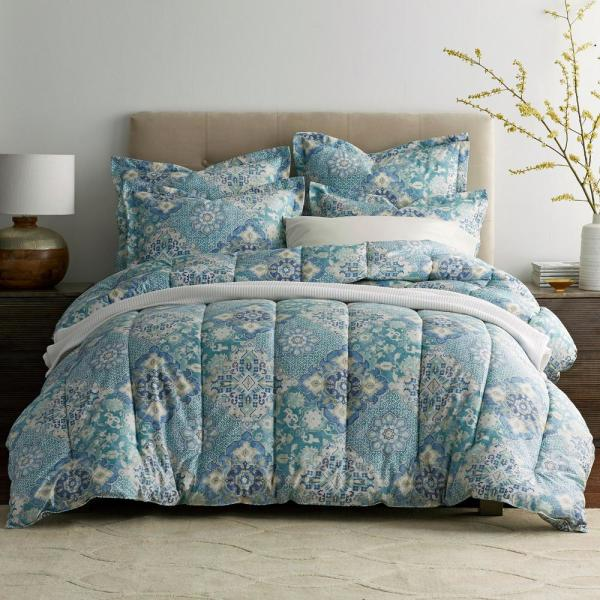 The Company Store Manchester Wrinkle-Free Sateen Twin Comforter 50379E-T-MULTI