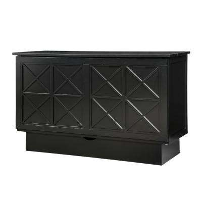 Exceptional Essex Black Queen Size Cabinet Bed