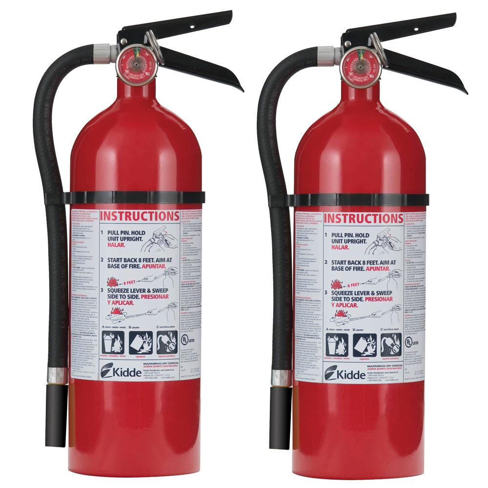 KIDDE Kidde Pro 210 2-A-10-B:C Fire Extinguisher (2-Pack)