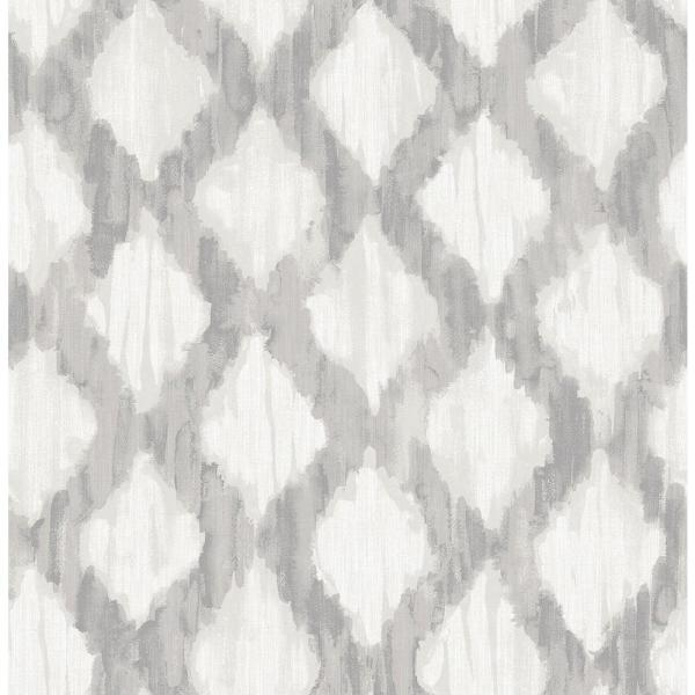 Grey Floating Trellis Grey Wallpaper Sample