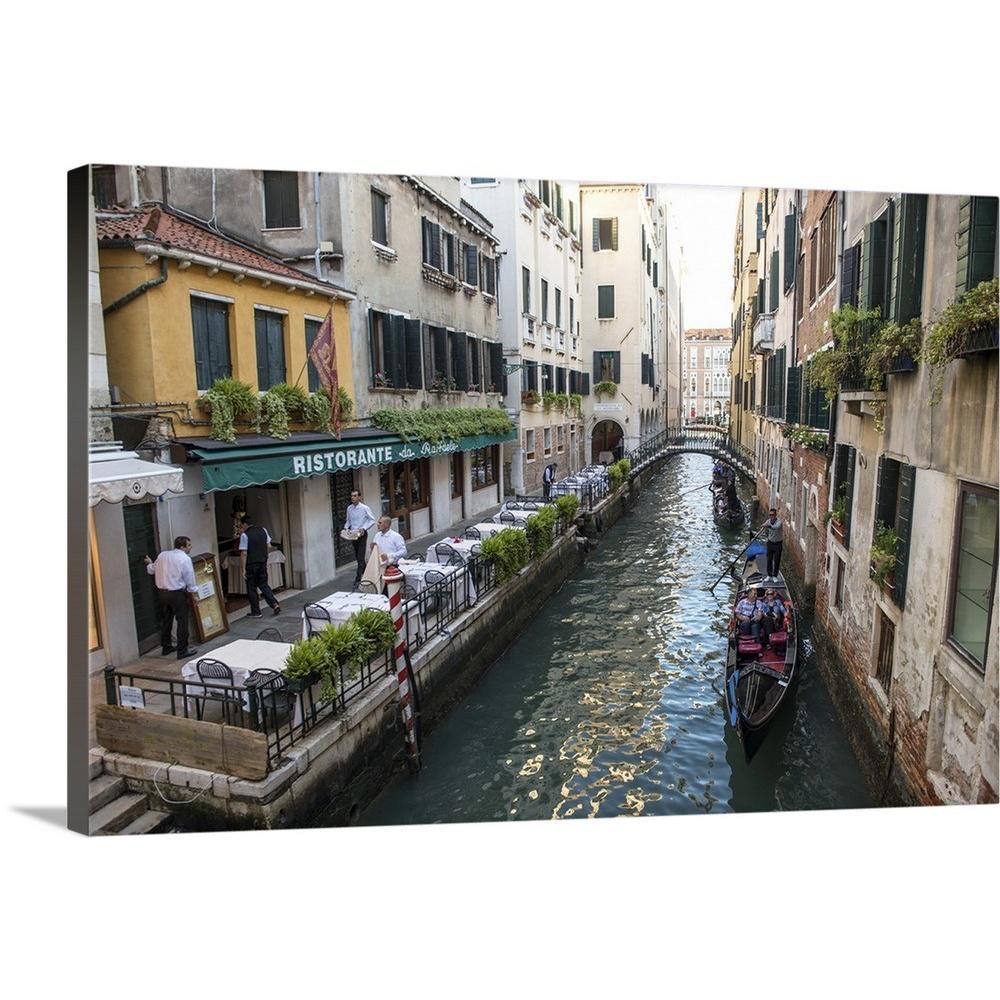 GreatBigCanvas ''Ristorante Da Raffaele on the Canal, Venice, Italy, Europe'' by