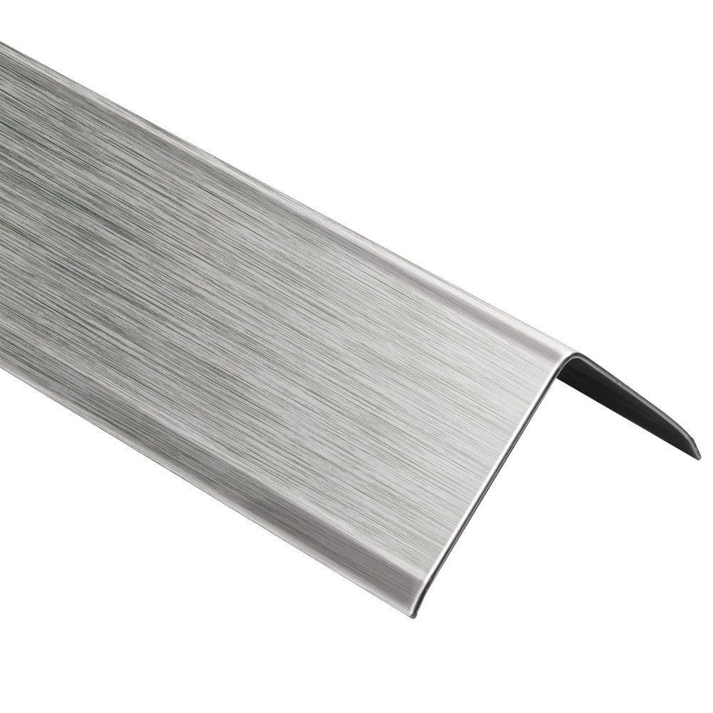 ECK-K Brushed Stainless Steel 2 in. x 8 ft. 2-1/2 in. Metal Corner Tile Edging Trim