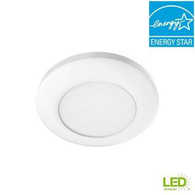 4 in. White Recessed LED Can Disk Light (1-Pack)