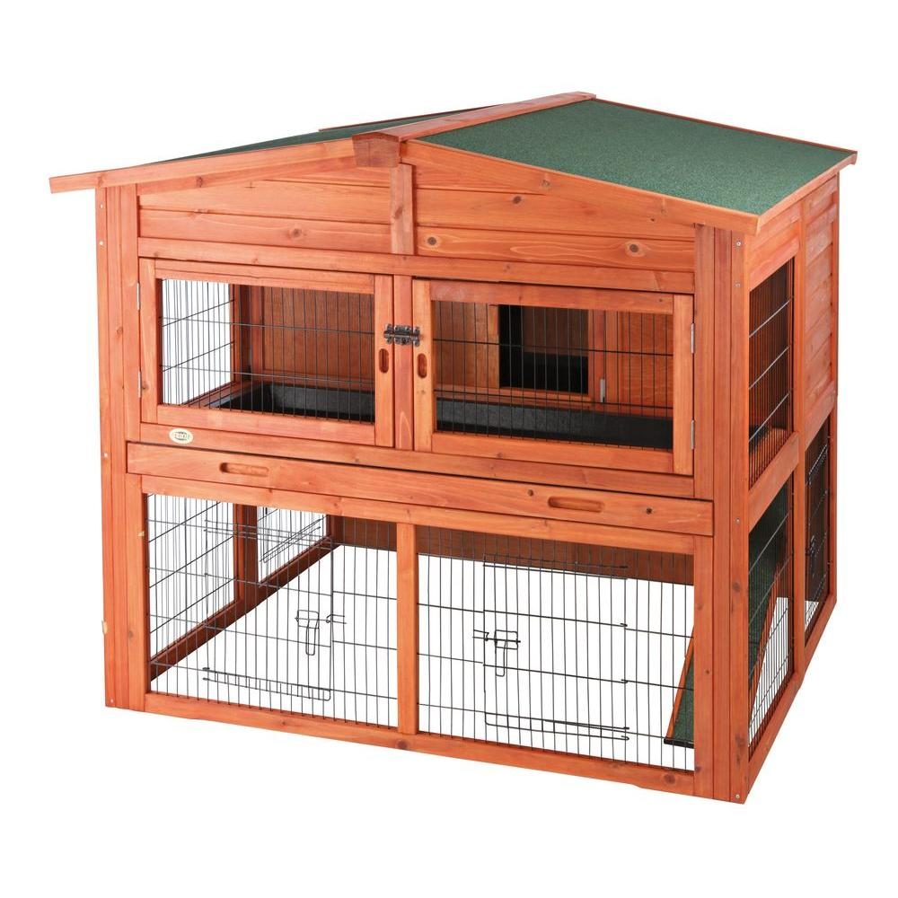 product glazed free trixie pine sloped products hutch rabbit pet overstock metal plastic shipping today supplies roof