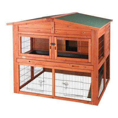 4.4 ft. x 3.7 ft. x 3.8 ft. Extra-Large Rabbit Hutch