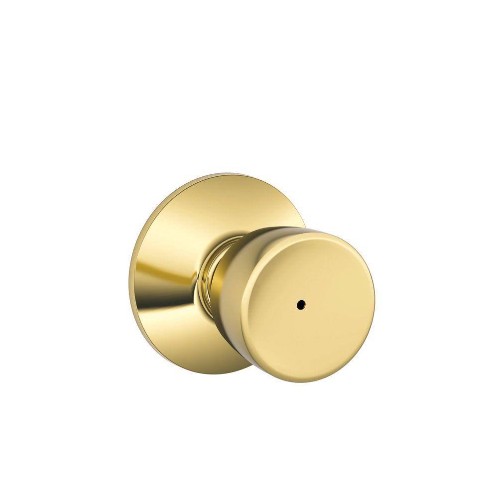 Brass Privacy Door Knob Bedroom Bathroom Universal Latch Indoor Push Button Lock
