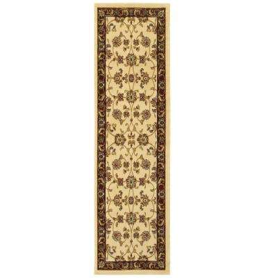 Grace Ivory/Red 2 ft. x 7 ft. Plush Indoor Runner Rug