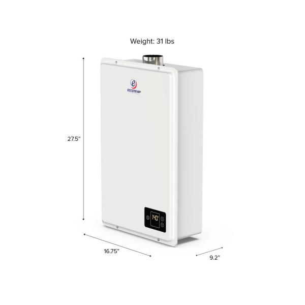 Eccotemp 6 Gpm Residential 150 000 Btu Csa Approved Natural Gas Indoor Tankless Water Heater 20hi Ng The Home Depot