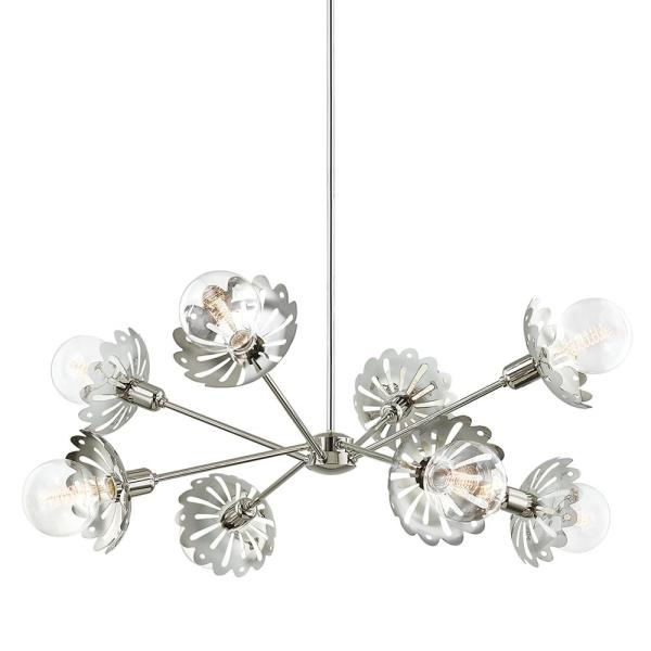Alyssa 8-Light Polished Nickel Chandelier