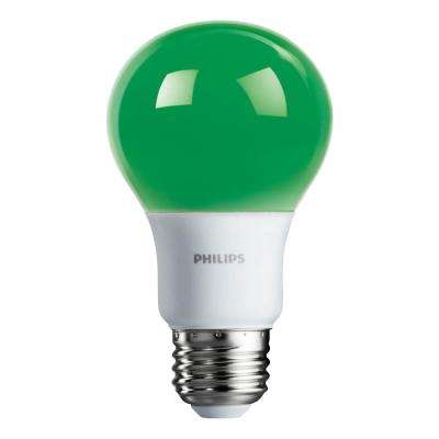 60-Watt Equivalent A19 Non-Dimmable Green LED Colored Light Bulb