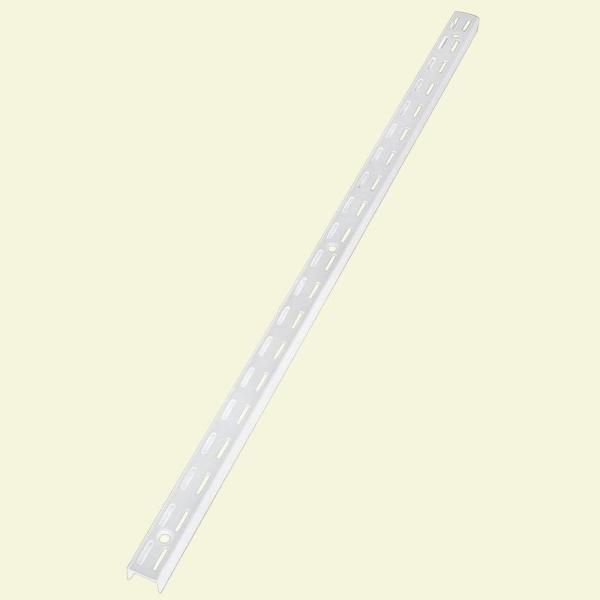 70 in. White Twin Track Upright for Wood or Wire Shelving