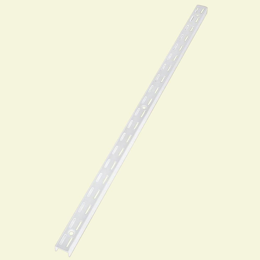 Rubbermaid 70 in. White Twin Track Upright for Wood or Wire Shelving ...