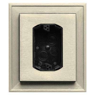 7 in. x 8 in. #020 Heritage Cream Electrical Mounting Block