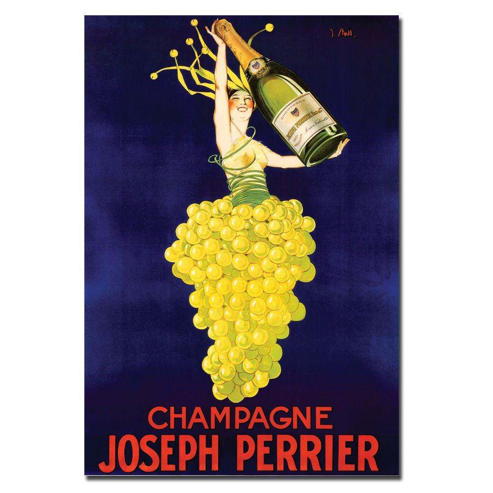 null 18 in. x 24 in. Champagne by Joseph Perrier Canvas Art