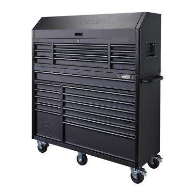Kobalt Tool Cabinet >> 56 In 23 Drawer Tool Chest And Rolling Cabinet Set 18 Ga Steel 22 In D Textured Black Matte