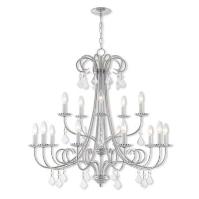 Daphne 15-Light Polished Chrome Foyer Chandelier