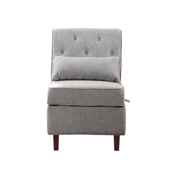 undefined Gray Storage Accent Chair