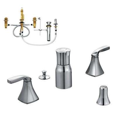 Voss 2-Handle Bidet Faucet Trim Kit with Valve in Chrome
