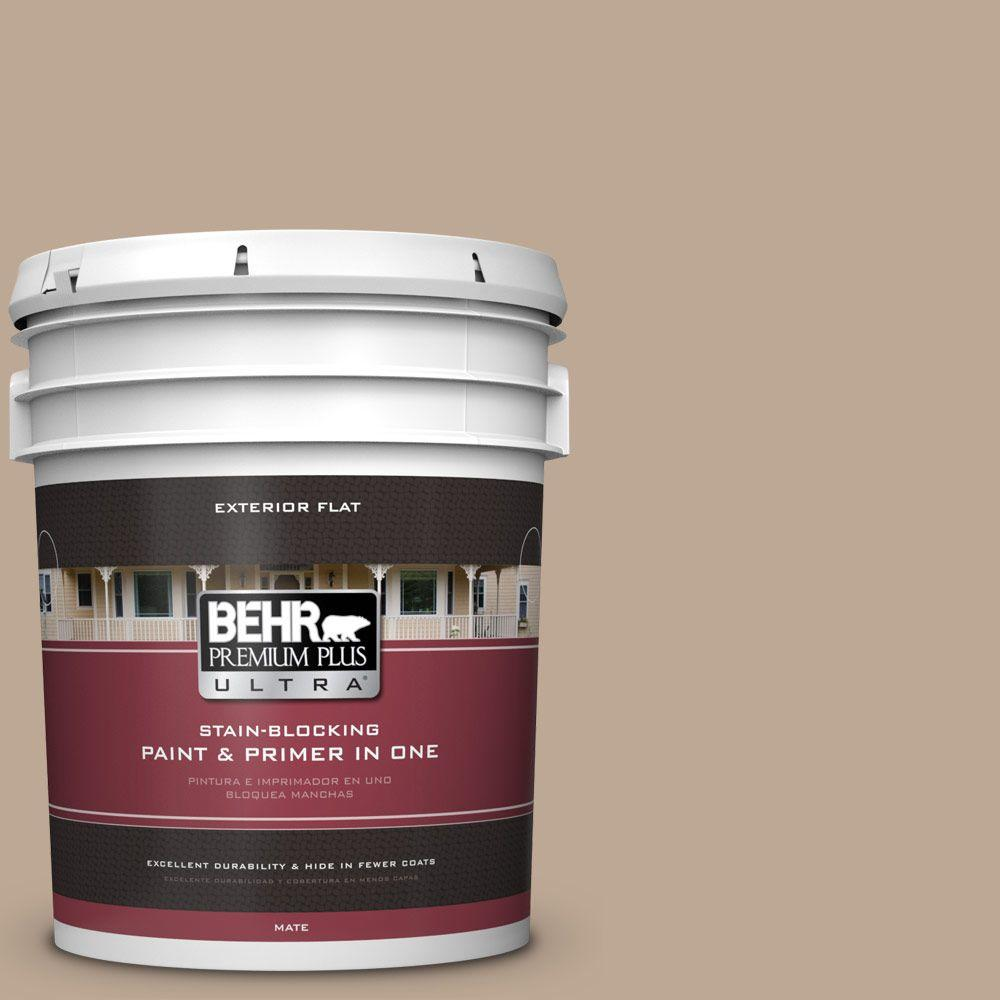5 gal. #700D-4 Brown Teepee Flat Exterior Paint