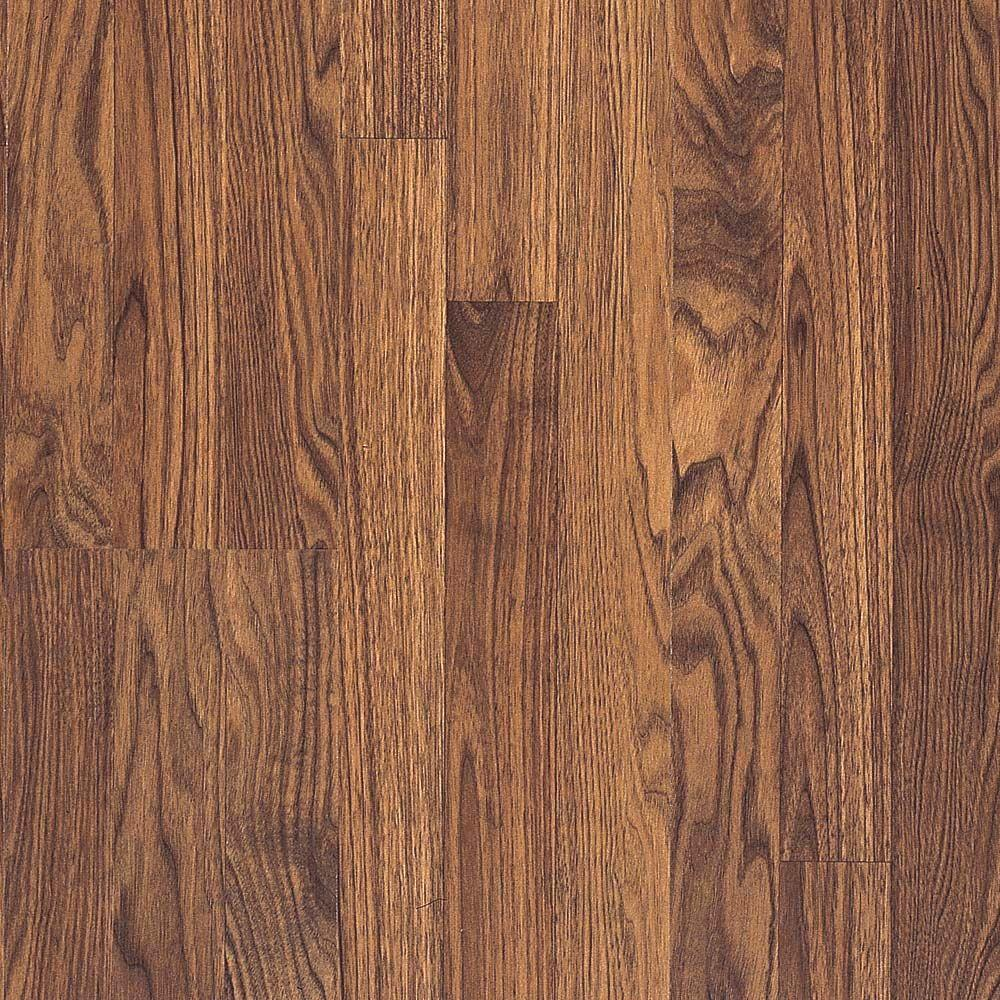 Pergo Presto Colby Walnut Laminate Flooring - 5 in. x 7 in. Take Home Sample-DISCONTINUED