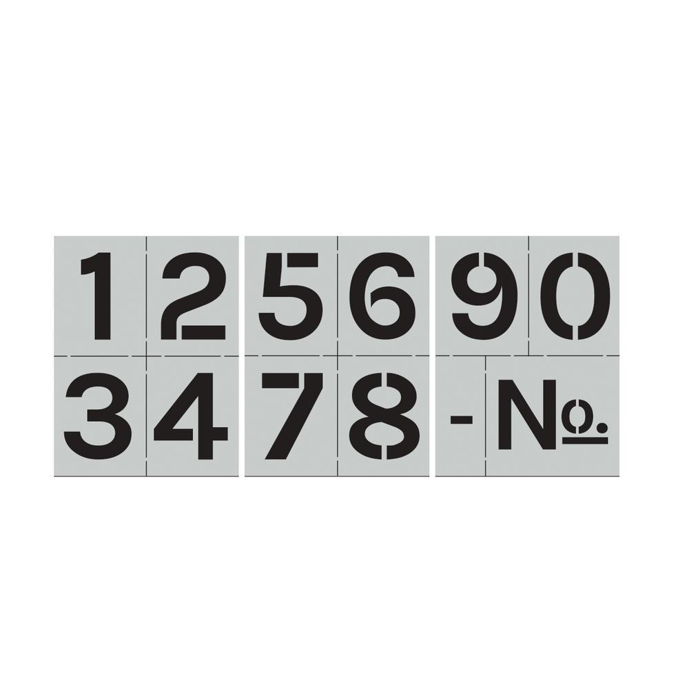 Block Numbers Stencil Set
