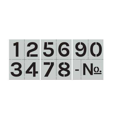 Block Numbers Stencil Set