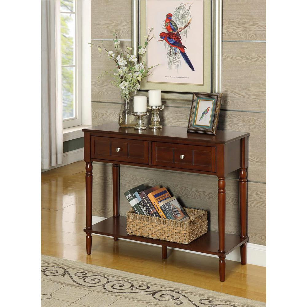 Convenience Concepts French Country Espresso 2Drawer Hall Table